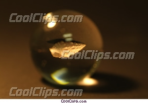 crystal ball with a shell inside Royalty Free Stock Photo Clipart wb042871