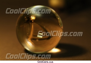 crystal ball with a train inside Royalty Free Stock Photo Clipart wb042875