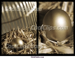 nest egg Royalty Free Stock Photo Clipart wb042897