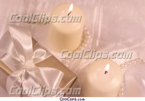 gift and candles Royalty Free Stock Photo Clipart wb043204