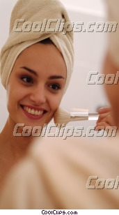 woman applying her make up Royalty Free Stock Photo Clipart wb043461