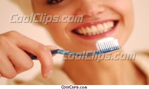 woman brushing her teeth Royalty Free Stock Photo Clipart wb043465