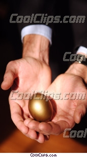 hands holding a nest egg Royalty Free Stock Photo Clipart wb043592