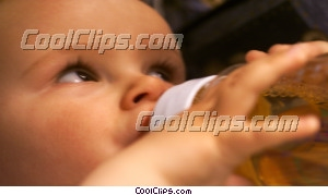 Baby potable de la bouteille photo libre de droits clipart wb043627