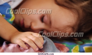 young girl sleeping Royalty Free Stock Photo Clipart wb043636