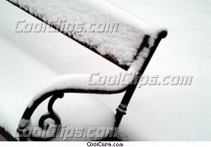winter scene with snow on bench Royalty Free Stock Photo Clipart wb043758