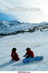 Surf des neiges photo libre de droits clipart wb043793