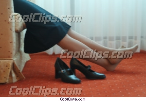 businesswoman relaxing in her hotel room Royalty Free Stock Photo Clipart wb043888