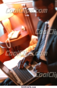 businessman working on his computer Royalty Free Stock Photo Clipart wb043913