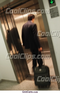 man taking his luggage to his room Royalty Free Stock Photo Clipart wb044596