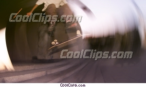 skateboarder photo libre de droits clipart wb045013