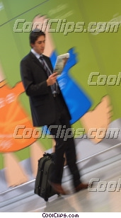 businessman walking with his luggage Royalty Free Stock Photo Clipart wb045074