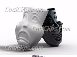 Theater masks Royalty Free Stock Photo Clipart wb045151