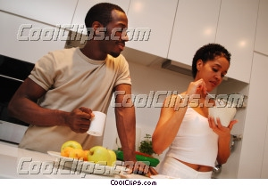 couple having breakfast Royalty Free Stock Photo Clipart wb045354