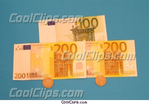 financial concept dollars with coins Royalty Free Stock Photo Clipart wb045382
