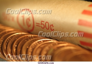 rolled coins Royalty Free Stock Photo Clipart wb045397