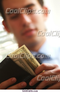 man counting his money Royalty Free Stock Photo Clipart wb045470
