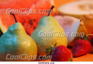 pears, watermelon, strawberries & melon Royalty Free Stock Photo Clipart wb045605