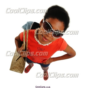 woman going to the beach Royalty Free Stock Photo Clipart wb045879