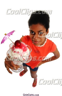 woman having some ice cream Royalty Free Stock Photo Clipart wb045880