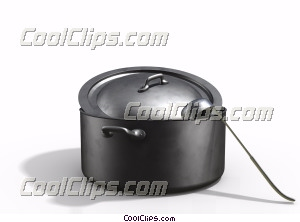 soup pot with ladle Royalty Free Stock Photo Clipart wb045895