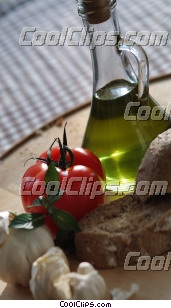 garlic cloves, tomatoes, olive oil Royalty Free Stock Photo Clipart wb045910