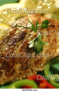 Chicken breast with pepper and lemon Royalty Free Stock Photo Clipart wb046289