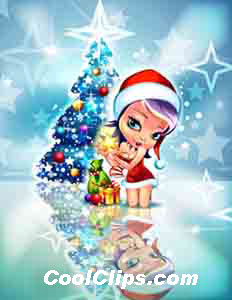 Anime Christmas Star Royalty Free Fineart Raster Illustration Clipart wb050275