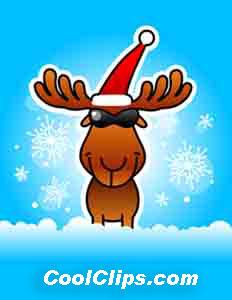 Weihnachten Rentier Chillin Fineart Raster Darstellung Bild