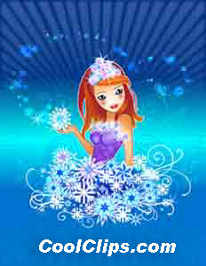 Snow Dreams Fineart Raster Illustration libre de droits Clipart wb050910