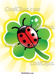 Ladybug and Four Leaf Clover