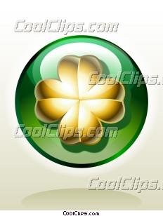 Golden Four-Leaf Clover