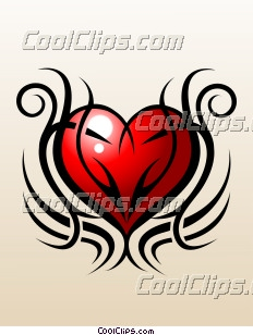 Tribal Love Tattoo