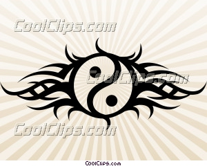 Tribal Yin Yang Tattoo