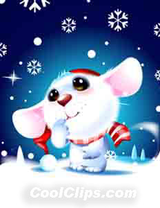 Souris Snow Cutest Ever! Fineart Raster Illustration libre de droits Clipart wb051981