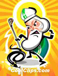 Stomp Saint Patty Snake Fineart Raster Illustration libre de droits Clipart wb052289