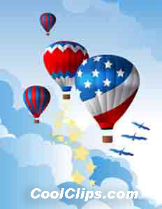 USA Up Up and Away Royalty Free Fineart Raster Illustration Clipart wb052475