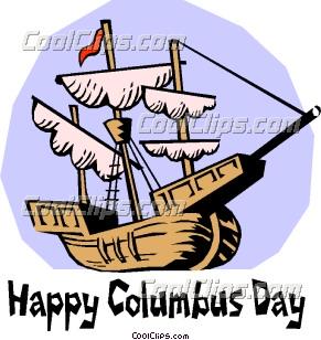 happy columbus day  clip art