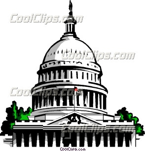 Capitol building - Vector Clip Art - CoolCLIPS.