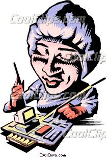 cartoon assembly line worker clip art