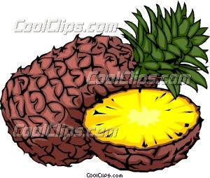 Sliced Pineapple Clip Art
