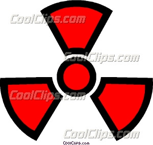 Symbol of nuclear energy Clip Art