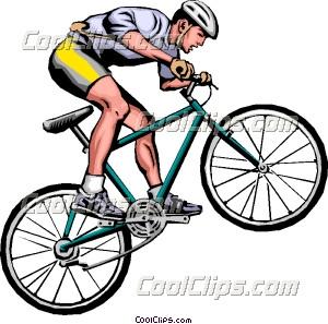 Man On Mountain Bike Clip Art
