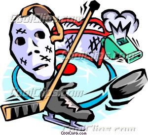 hockey goalie mask stick whistle clip art. Black Bedroom Furniture Sets. Home Design Ideas