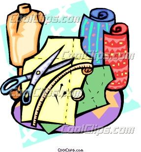 Dressmaking supplies Clip Art