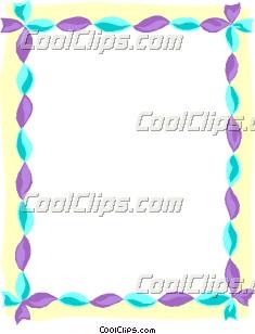 Twisted streamer border clip art m4hsunfo