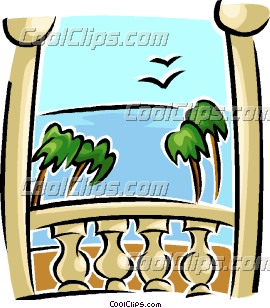 View from balcony clip art for Balcony clipart