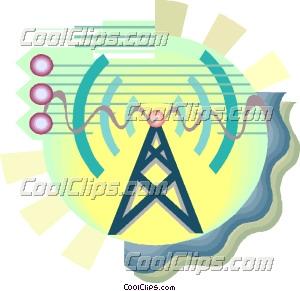 电力塔,通信符号 矢量剪贴画 - coolclips
