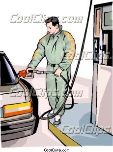填补在汽车加油站