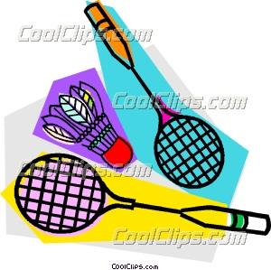 badminton rackets and birdie clip art rh dir coolclips com badminton clipart pictures badminton clipart transparent